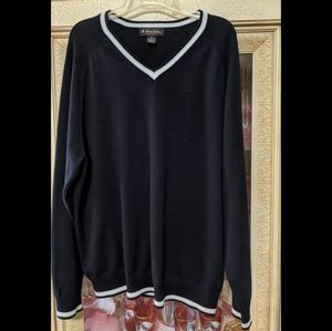 Brooks Brothers Cotton Silk Cashmere V-neck